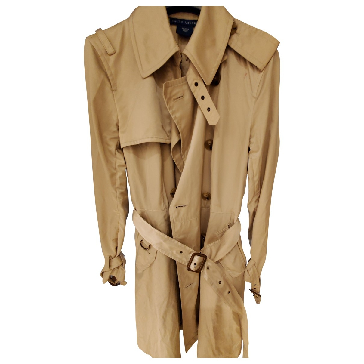 Ralph Lauren \N Beige Cotton coat for Women 2 US