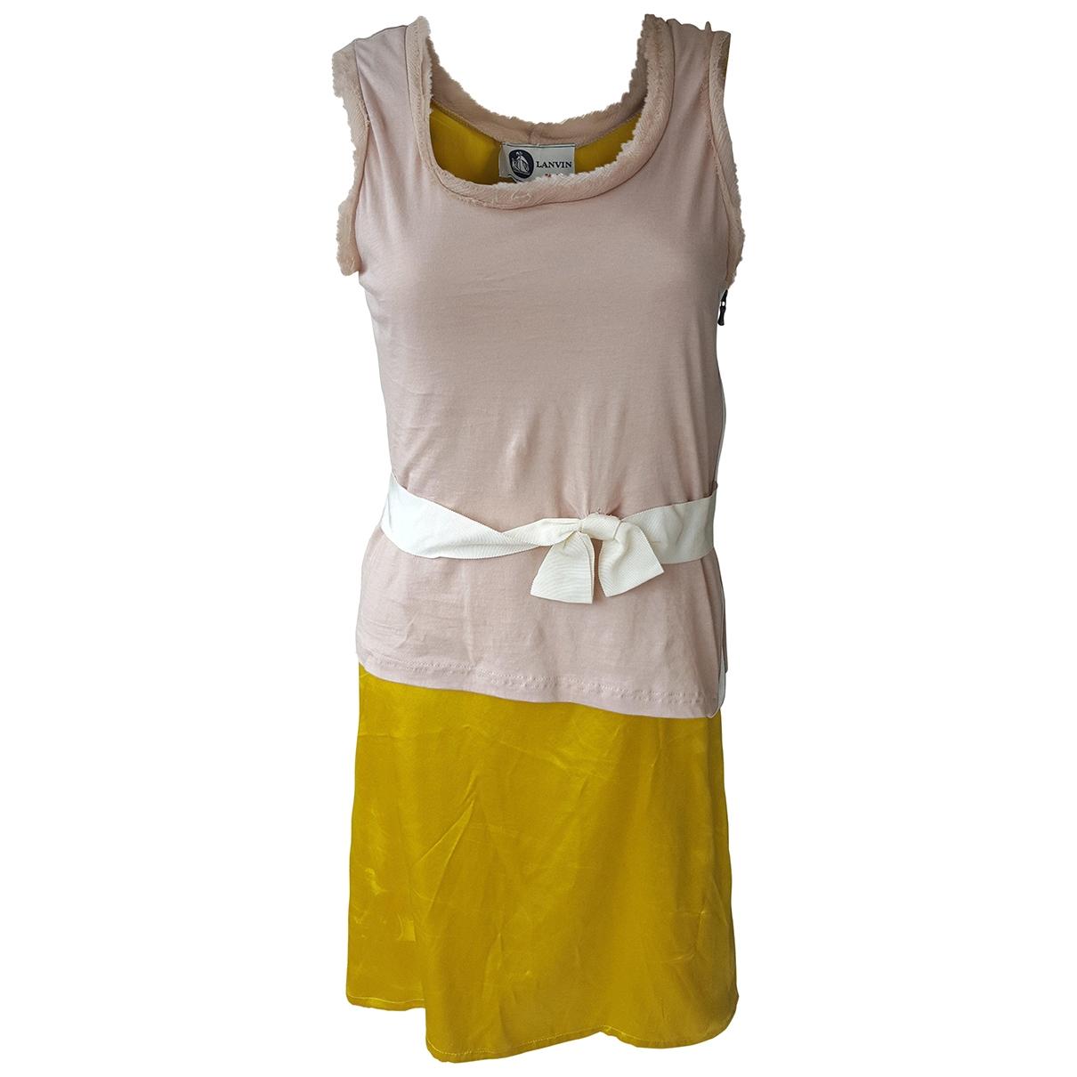 Lanvin \N Kleid in  Gelb Seide