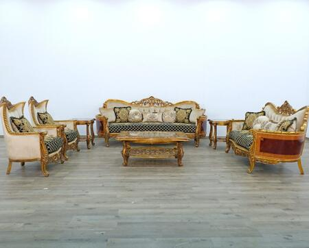 Maggiolini Collection Luxury 3 Pieces Set with 1 Coffee Table + 2 Side Tables  in Antique Dark