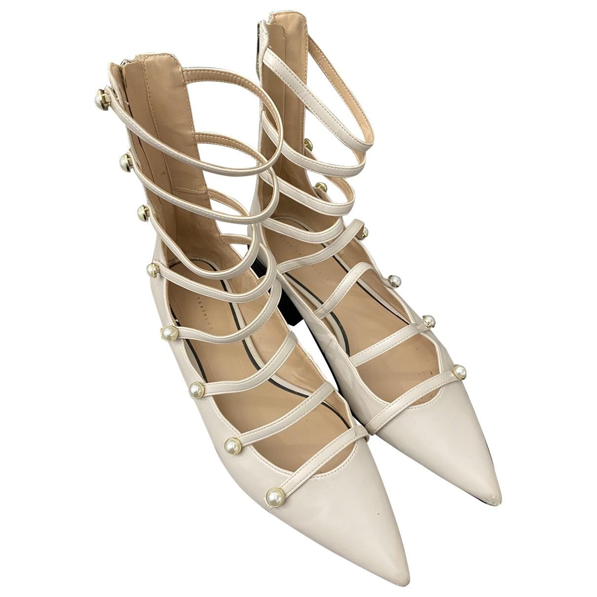 Zara \N White Leather Ballet flats for Women 41 EU
