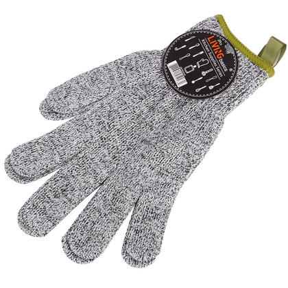 Cut Resistant Gloves - High Performance Level 5 Protection Food Grade Gray - LIVINGbasics™