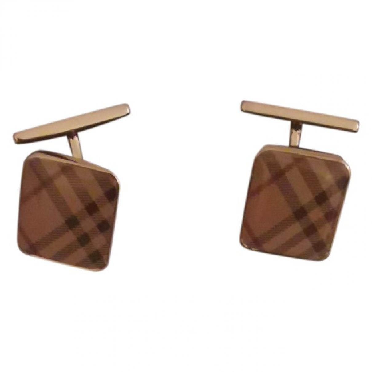 Burberry \N Beige Steel Cufflinks for Men \N