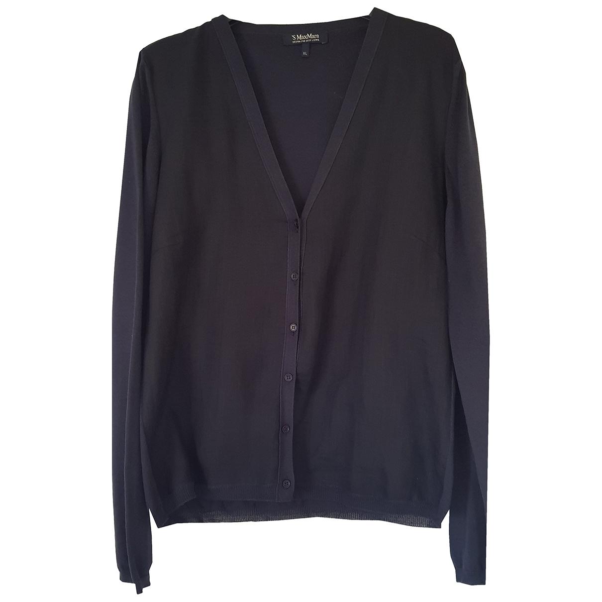 Max Mara s - Pull   pour femme en coton - bleu