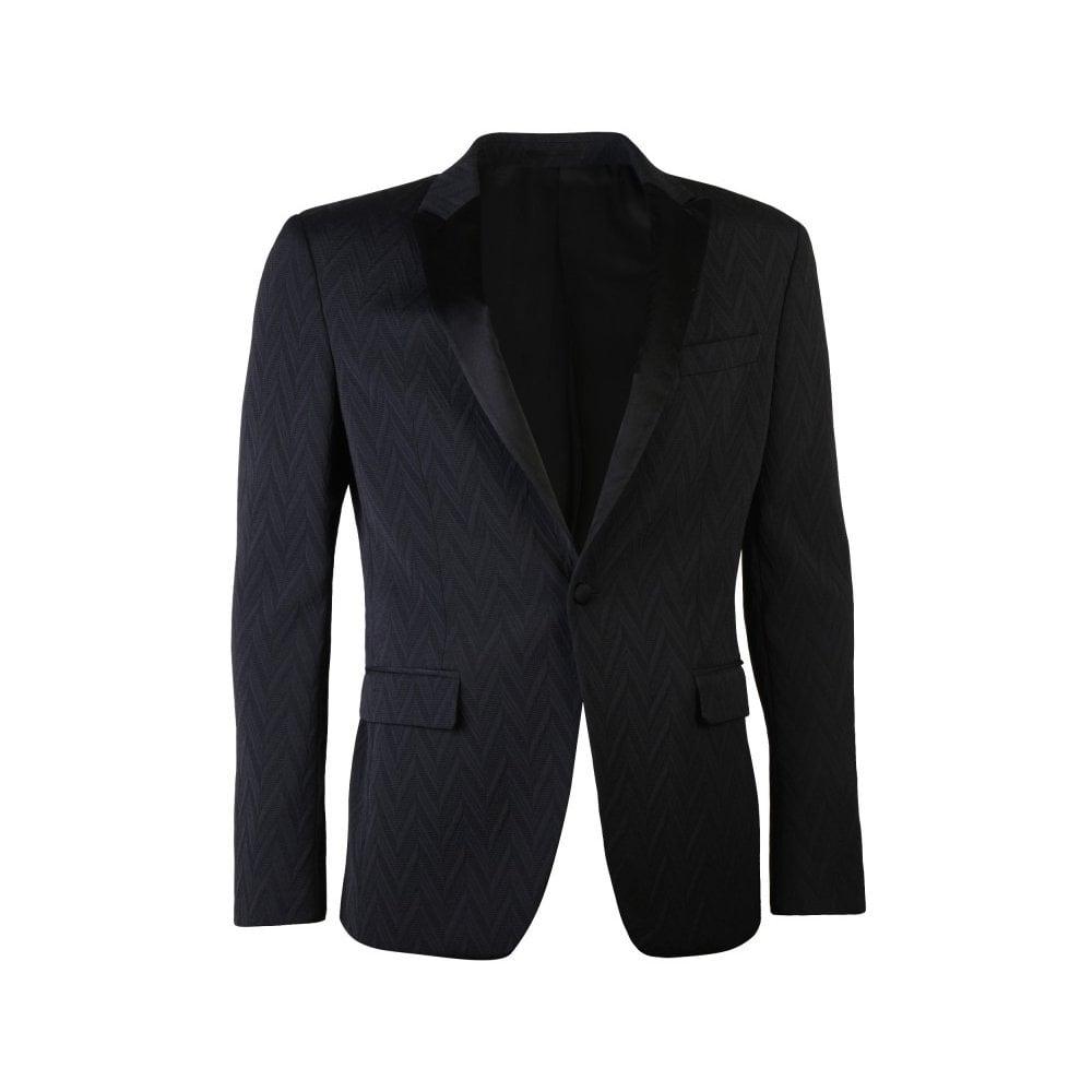 Versace Collection Textured Blazer Black Colour: BLACK, Size: EXTRA LARGE