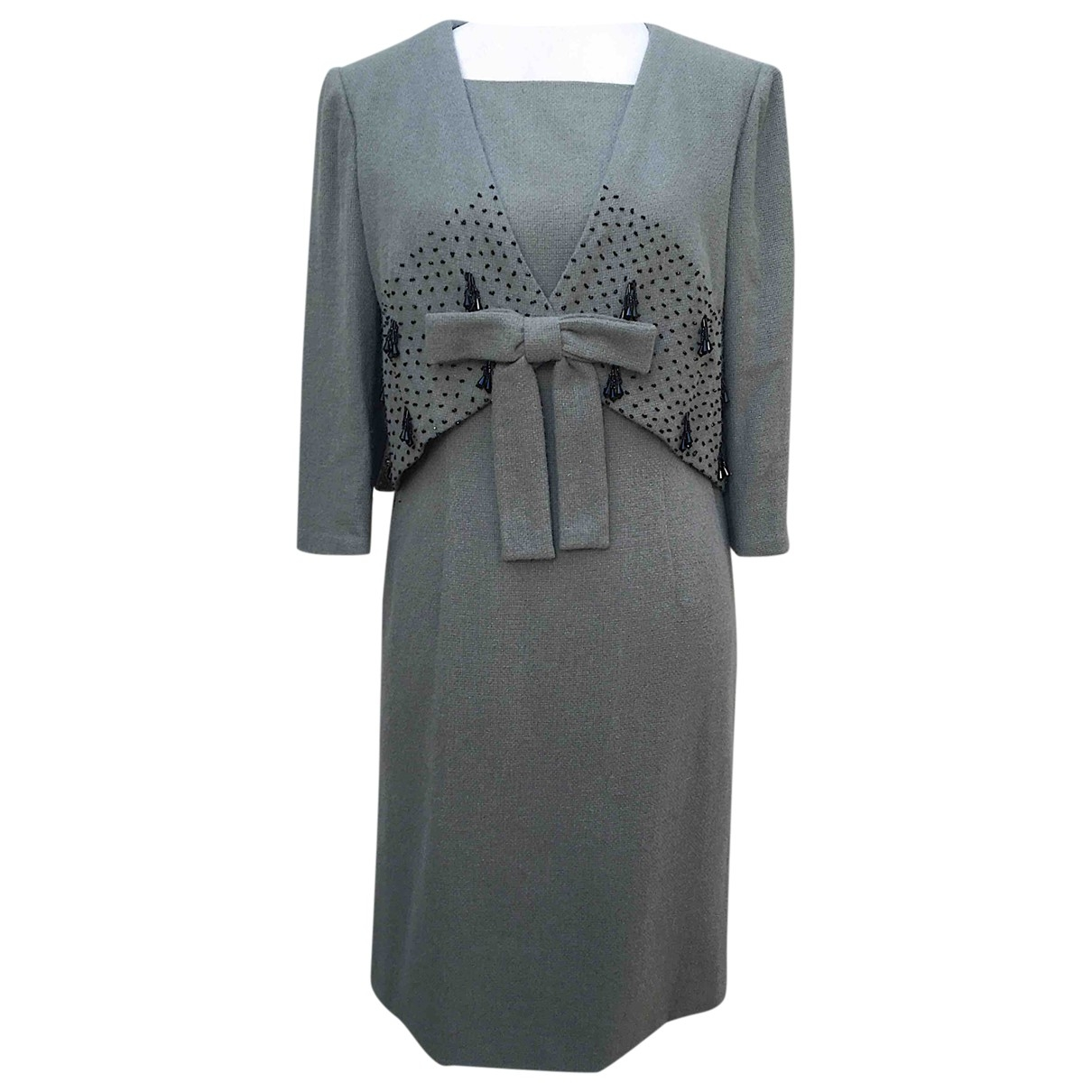- Robe   pour femme en laine - vert