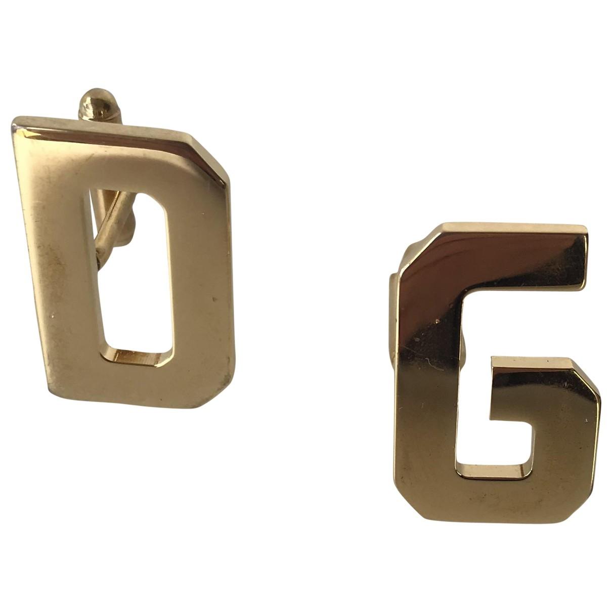 Dolce & Gabbana - Boutons de manchette   pour homme en metal - dore