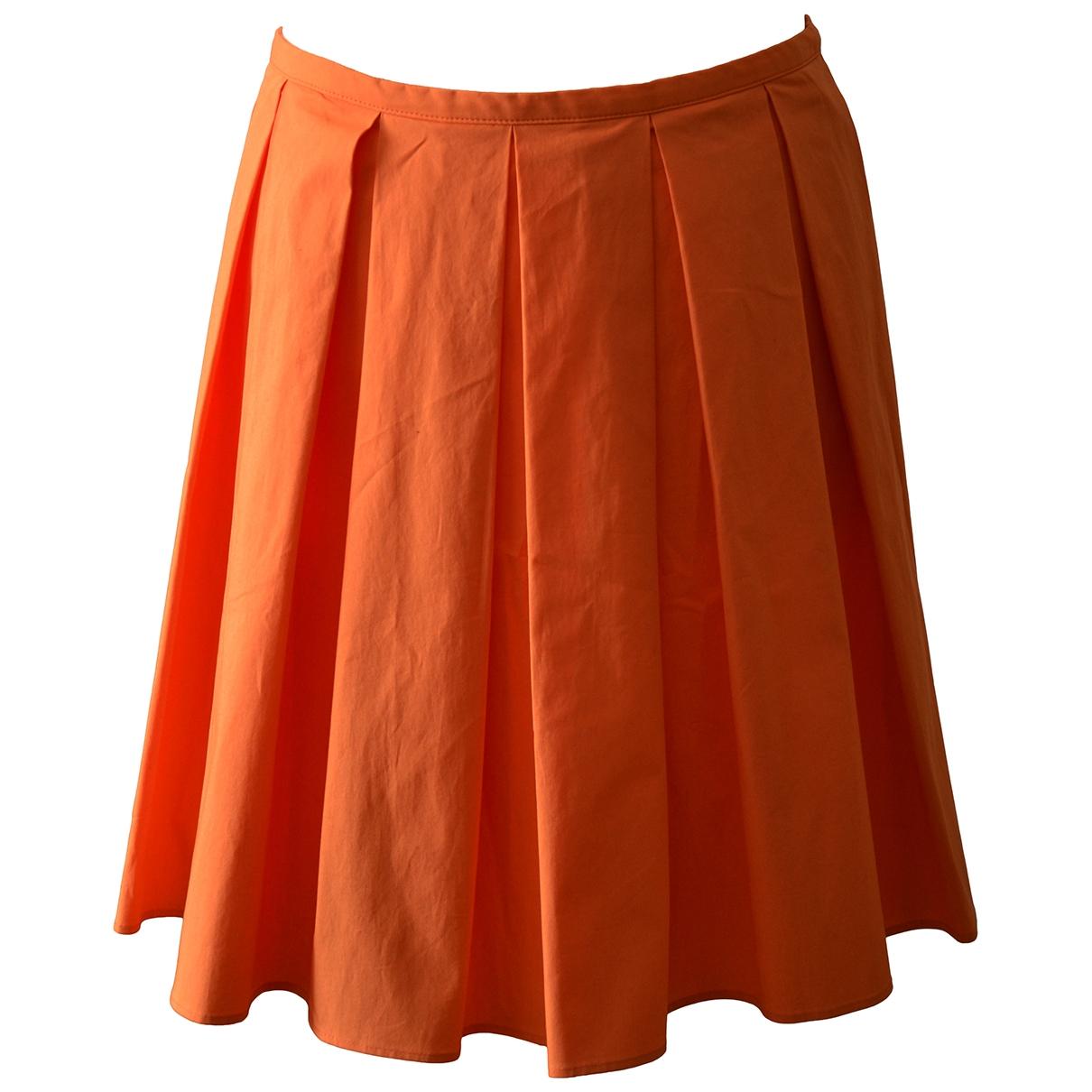 Red Valentino Garavani - Jupe   pour femme en coton - elasthane - orange