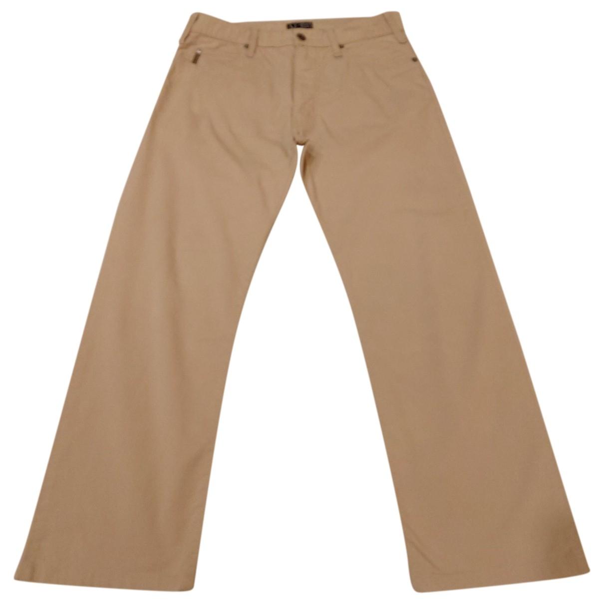 Pantalones en Algodon Beige Armani Jeans