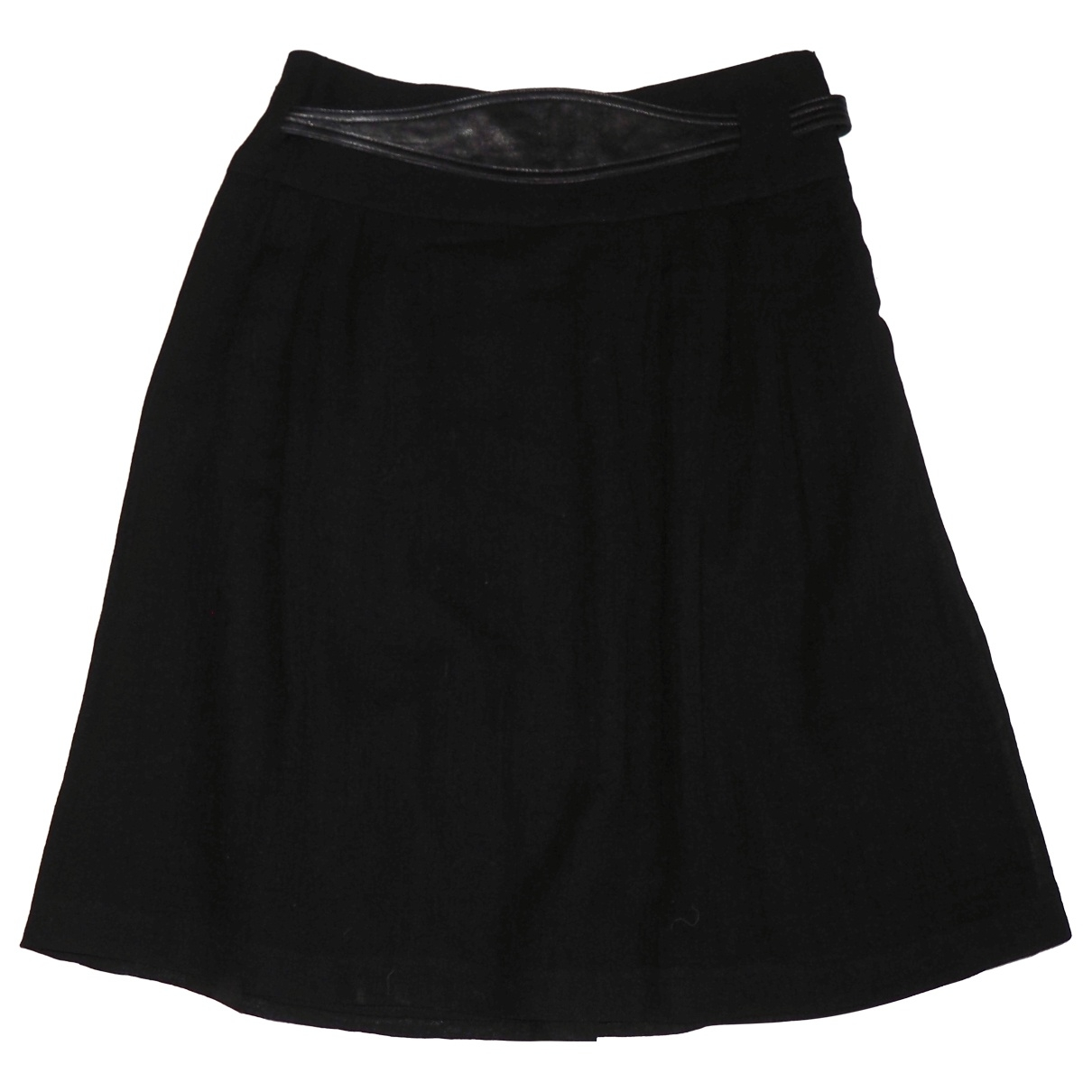 Les Prairies De Paris \N Black Wool skirt for Women 1 0-5