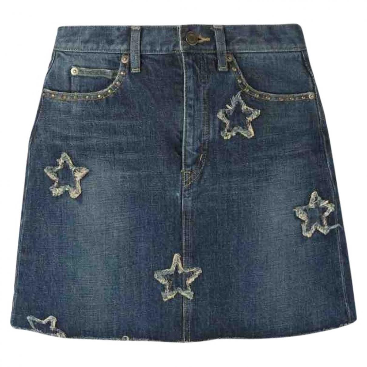 Saint Laurent \N Blue Denim - Jeans skirt for Women S International