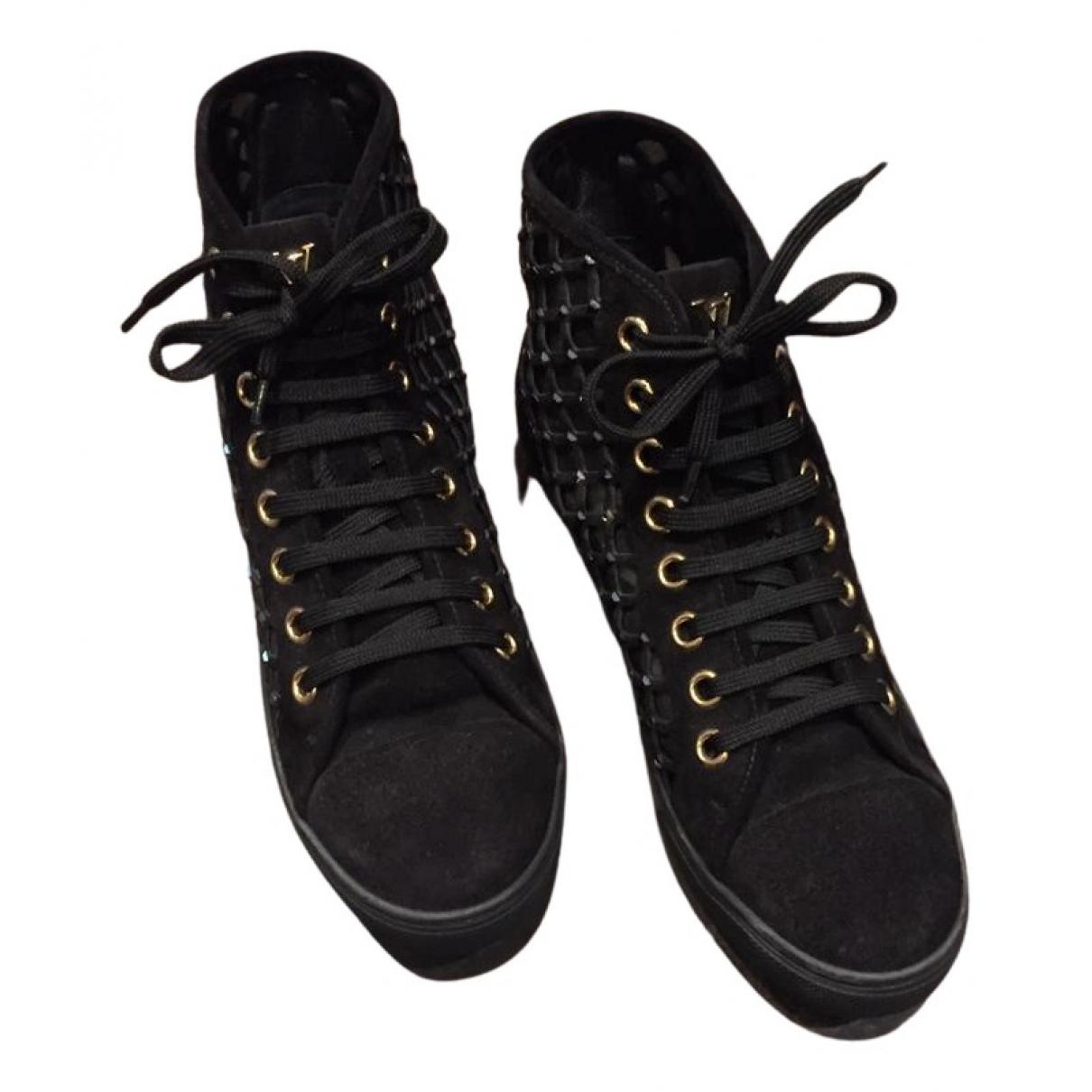 Louis Vuitton - Baskets Stellar pour femme en suede - noir