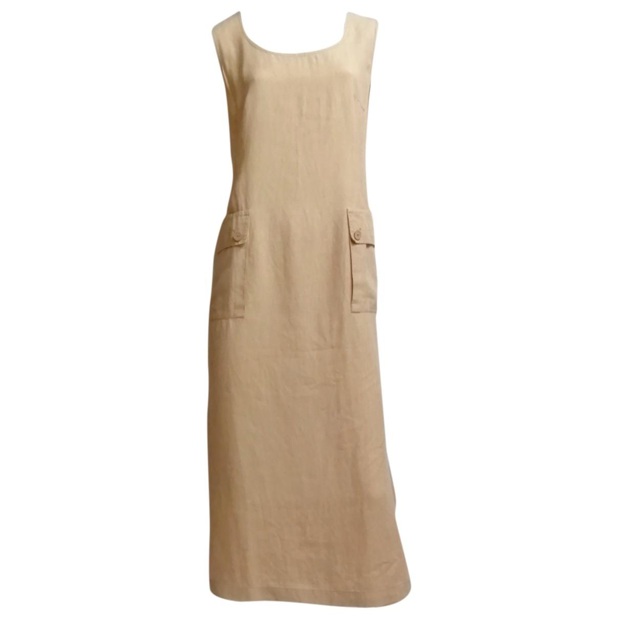 Pierre Cardin \N Kleid in  Beige Leinen