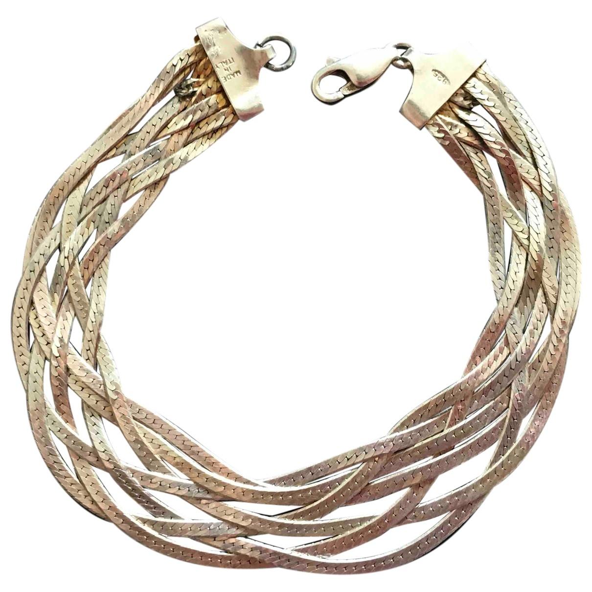 Non Signé / Unsigned \N Metallic Silver bracelet for Women \N
