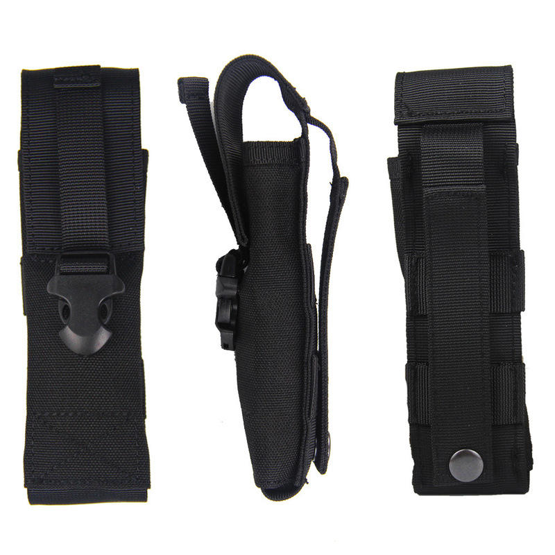 1000D Nylon Flashlight Tactical Bag Multi Functional Molle Pouch Camping Hunting Waterproof Toolkit
