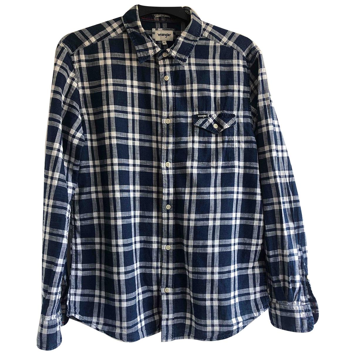 Wrangler - Chemises   pour homme en coton - bleu