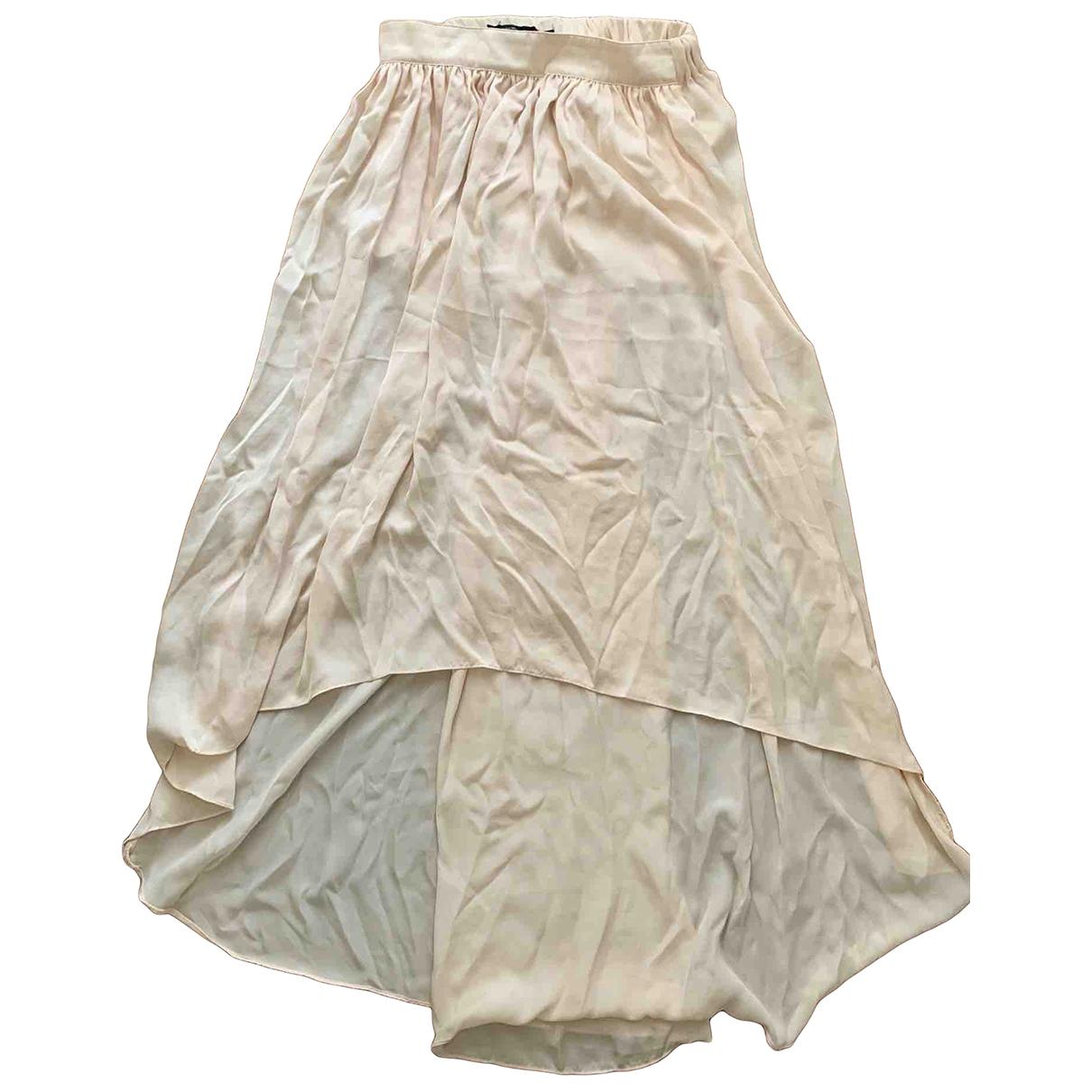 Zara \N Pink Silk skirt for Women XS International