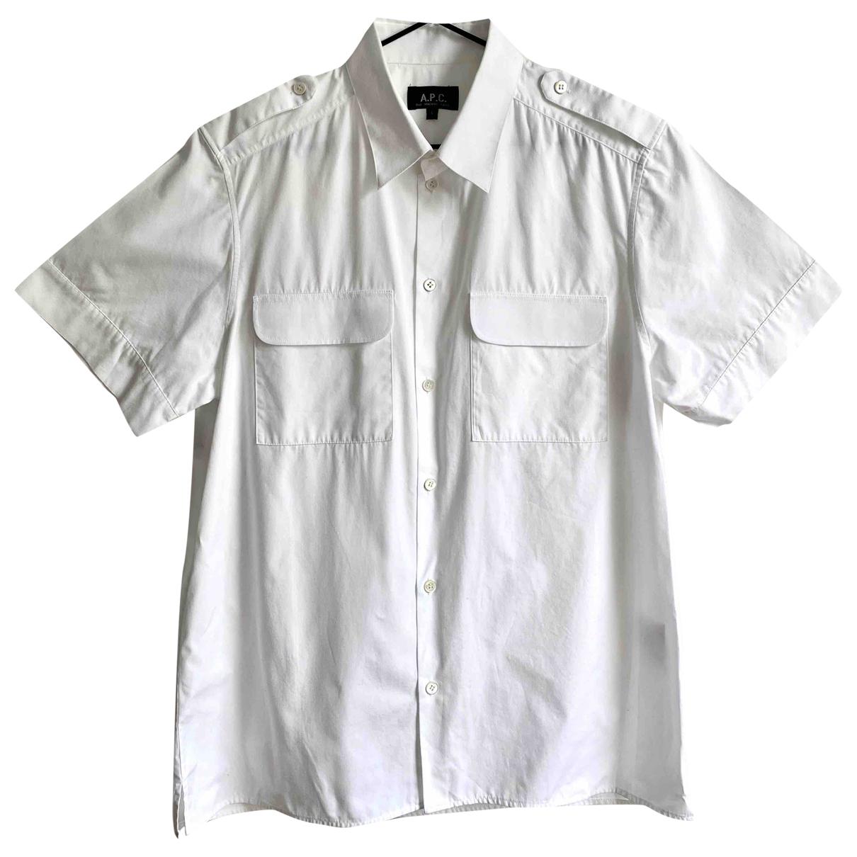Apc - Chemises   pour homme en coton - blanc