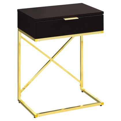 I 3476 Accent Table - 24H / Cappuccino / Gold
