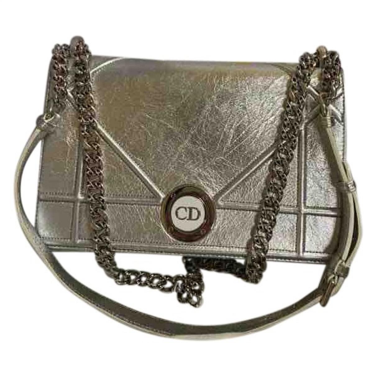 Dior Diorama Silver Leather handbag for Women \N