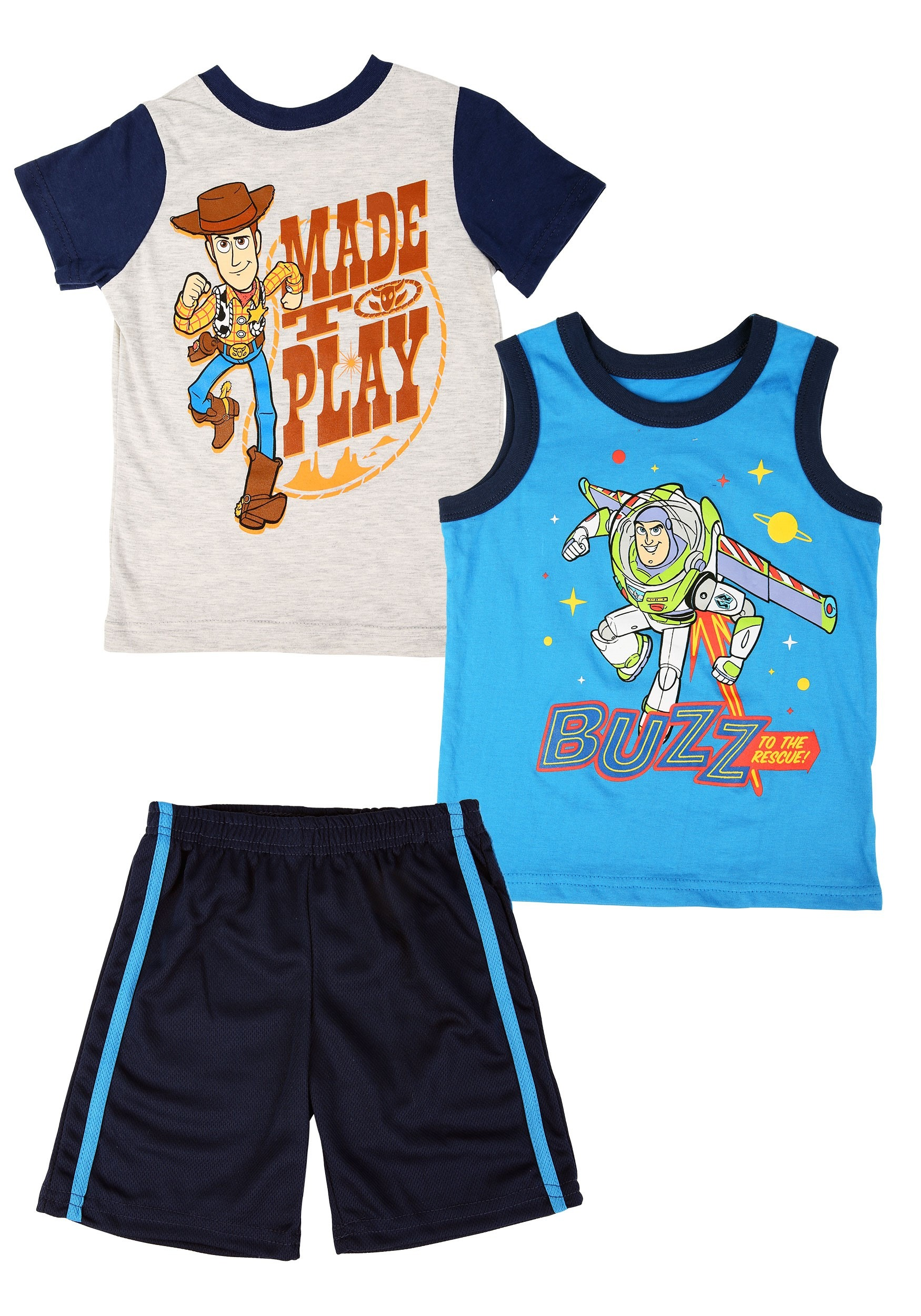 3pc Toy Story Knit Tank, Tee and Short Set