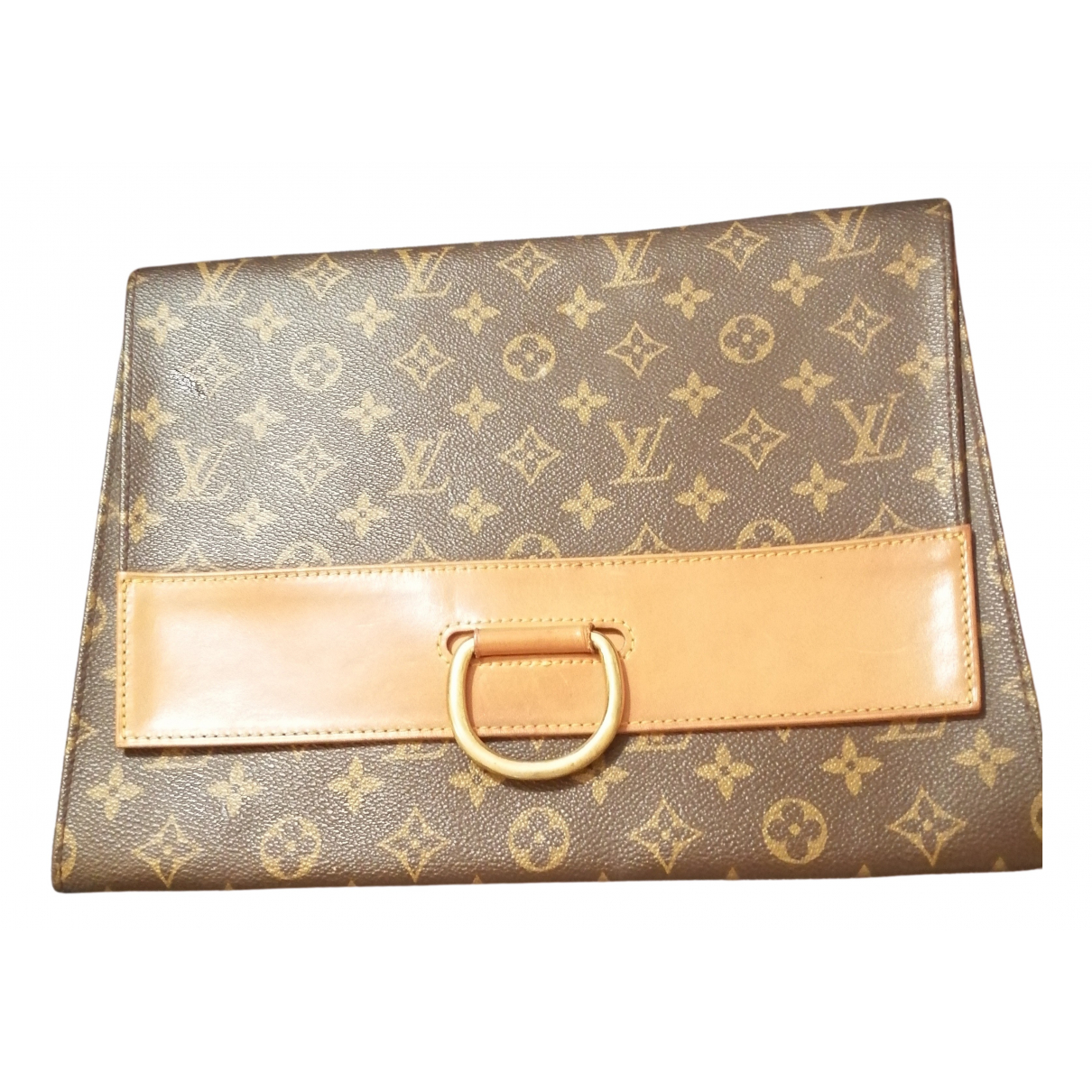 Louis Vuitton \N Clutch in  Braun Leinen