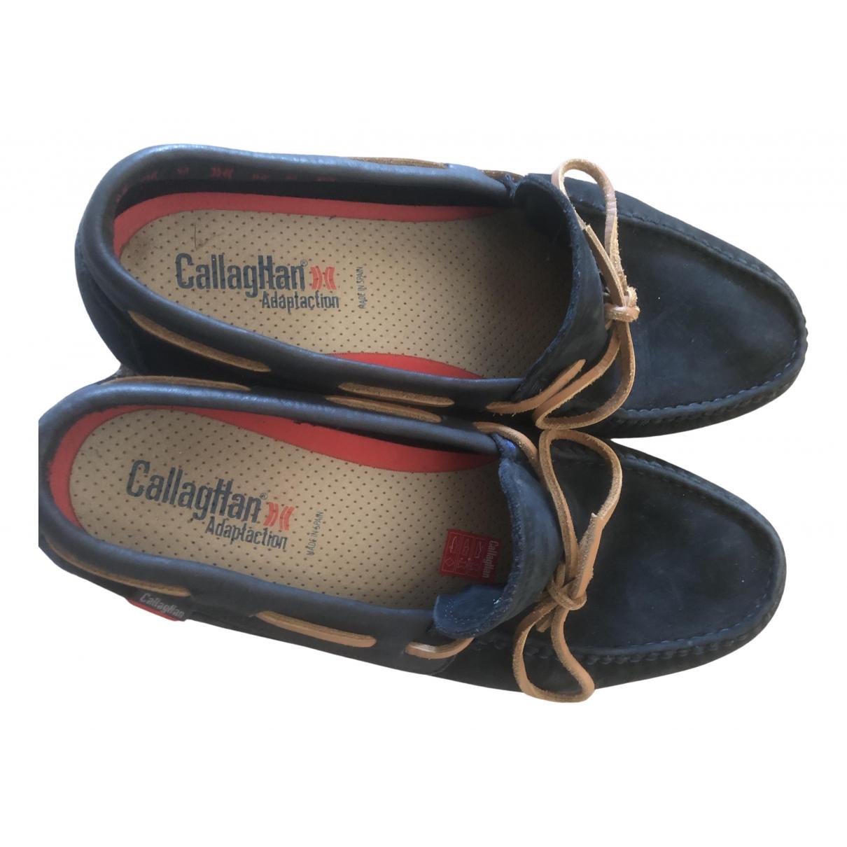 Callaghan \N Espadrilles in  Blau Veloursleder
