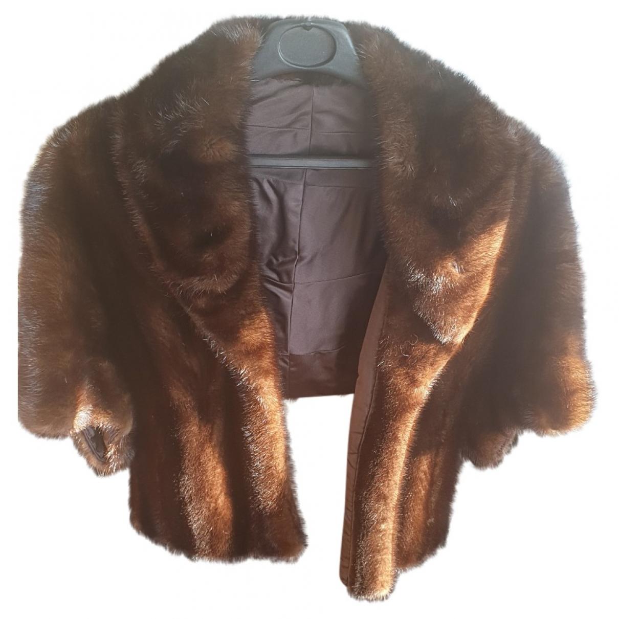 Ateliers Parisiens - Manteau   pour femme en vison - marron