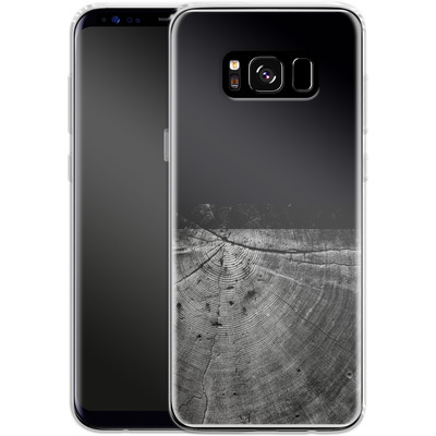 Samsung Galaxy S8 Silikon Handyhuelle - Wood Grain Slice von caseable Designs