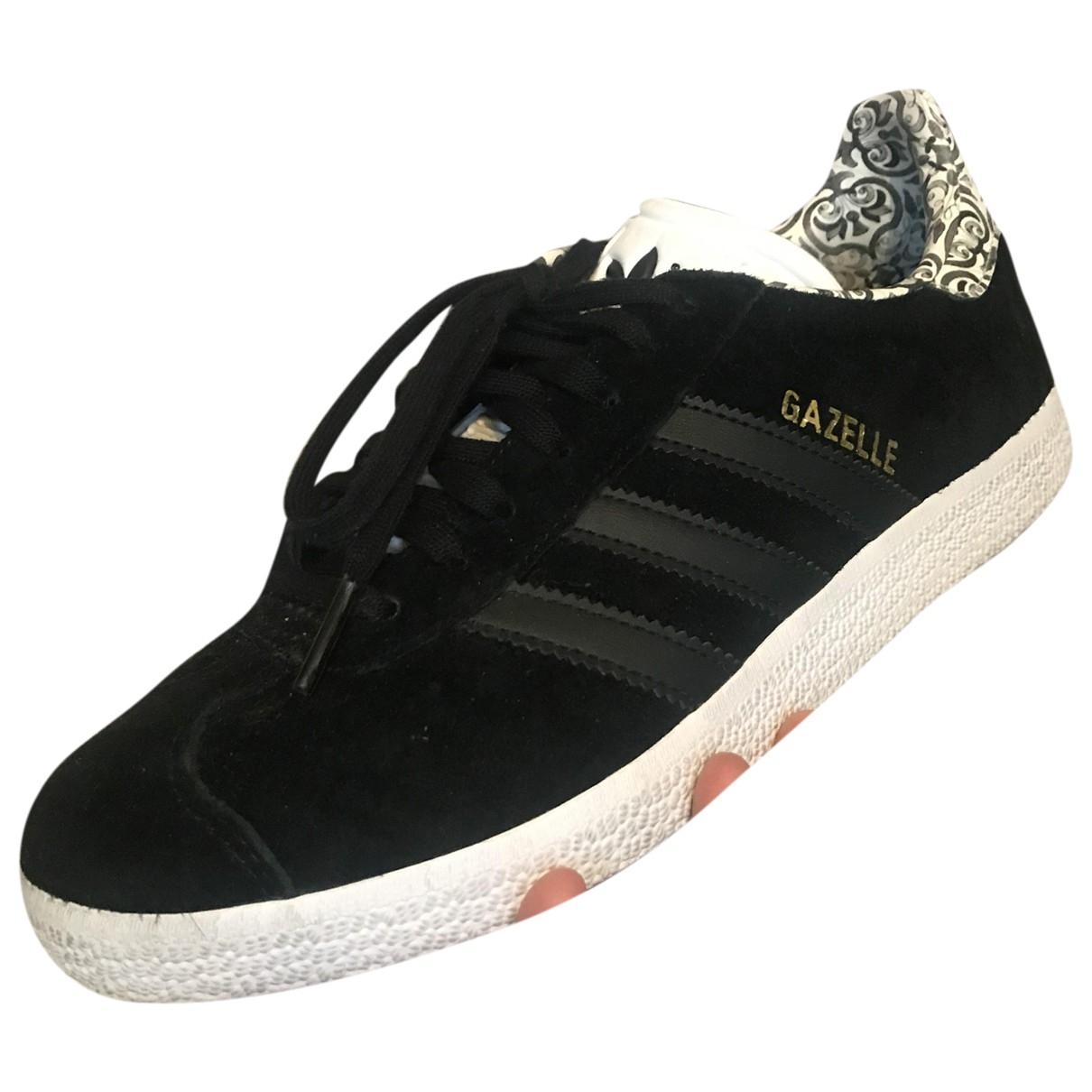 Adidas Gazelle Sneakers in  Schwarz Leder