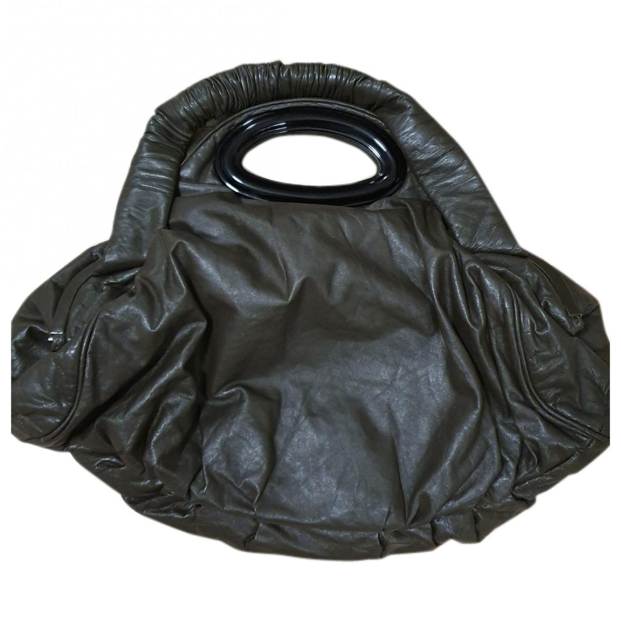 Marni \N Handtasche in  Gruen Leder