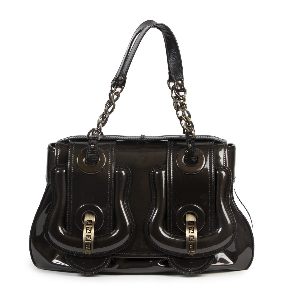 Bolso  B Bag de Charol Fendi