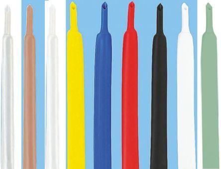 TE Connectivity Heat Shrink Tubing, White 9.5mm Sleeve Dia. x 1.2m Length 2:1 Ratio, RNF-100 Series