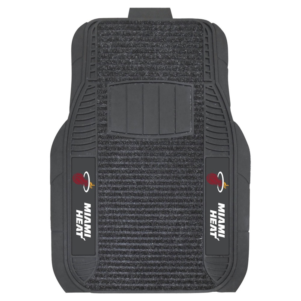 Fanmats Miami Heat Charcoal Vinyl Deluxe Car Mat Set (20 inches x 27 inches)