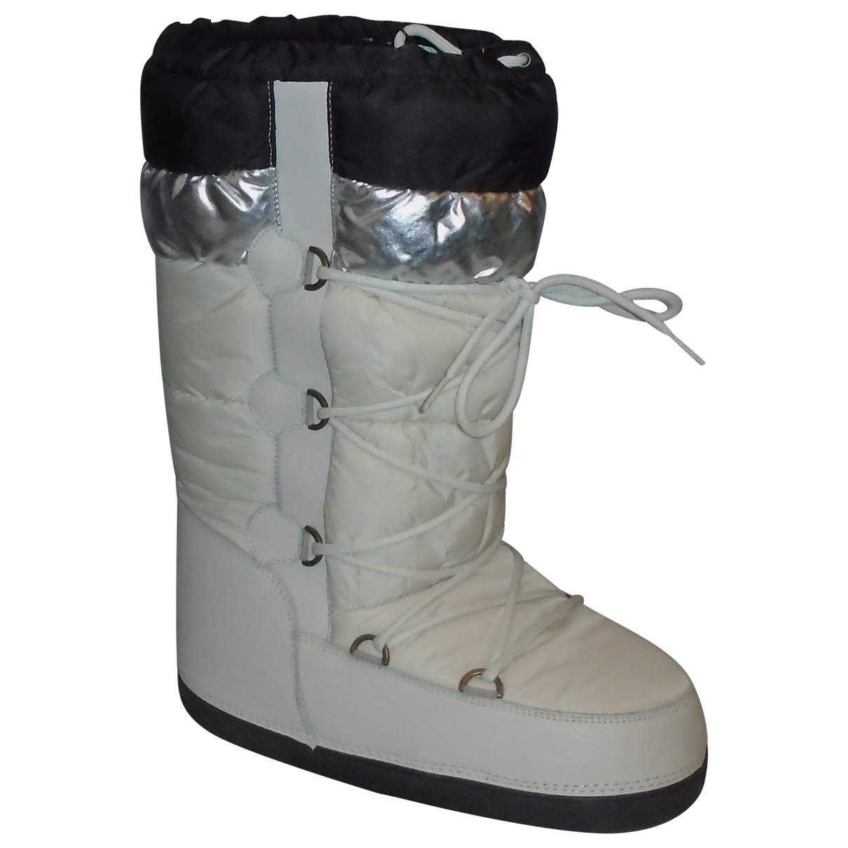 Moncler \N Stiefel in  Weiss Polyester
