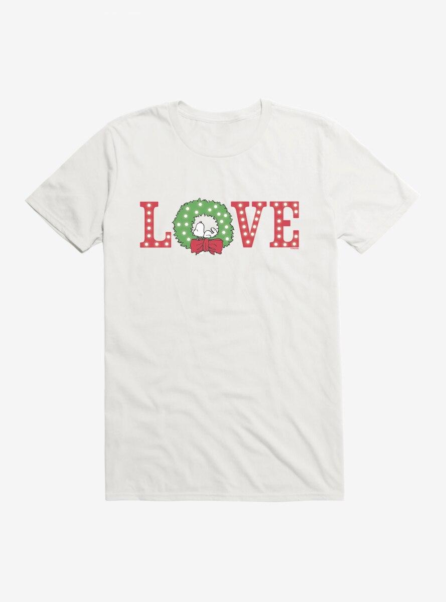 Peanuts Christmas Love Snoopy Nap T-Shirt