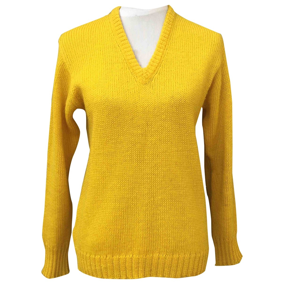 Non Signé / Unsigned \N Yellow Wool Knitwear for Women 46 IT