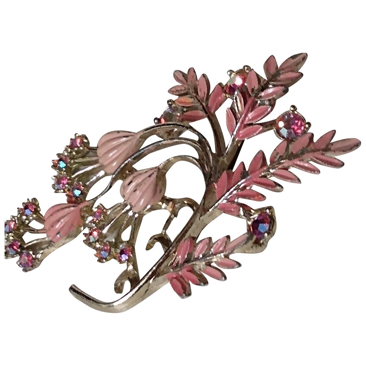 - Broche Motifs Floraux pour femme en metal - rose