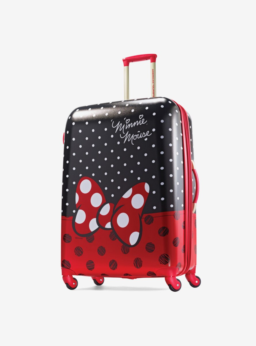 Disney Minnie Mouse Red Bow 28 Inch Spinner Hardside Luggage