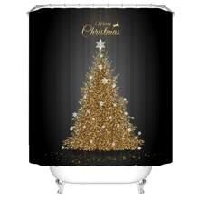 Christmas Tree Print Shower Curtain