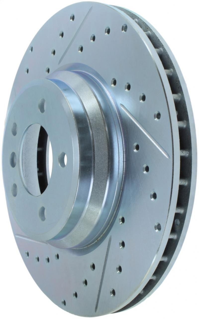 StopTech 227.34093R Select Sport Drilled and Slotted Brake Rotor; Front Right BMW