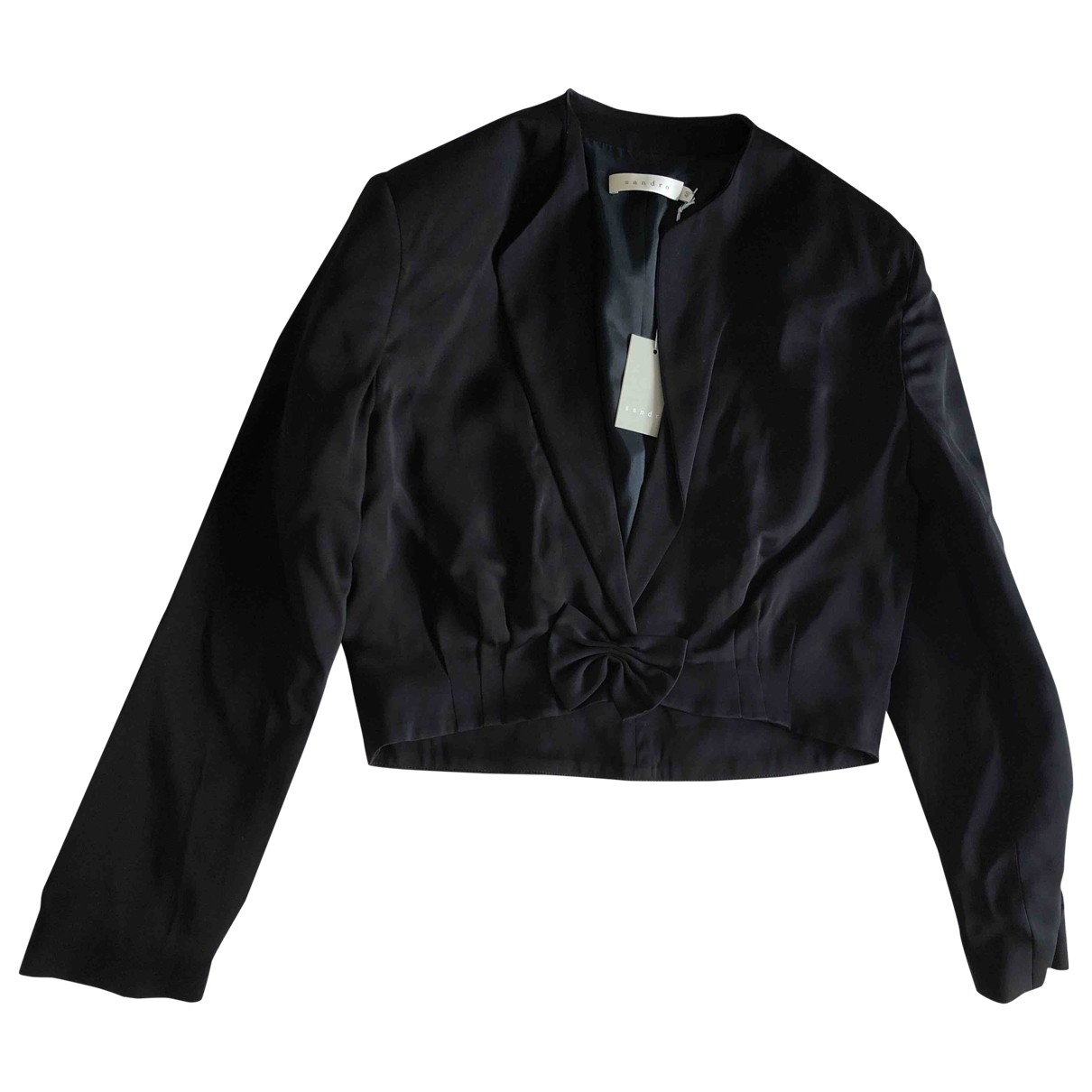 Maje \N Black Cotton jacket for Women 40 FR