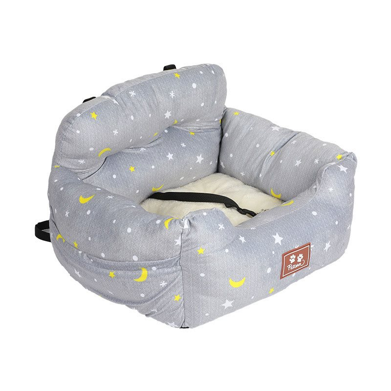 Warm And Comfortable Car Kennel Cushion With A Pet Seat Belt