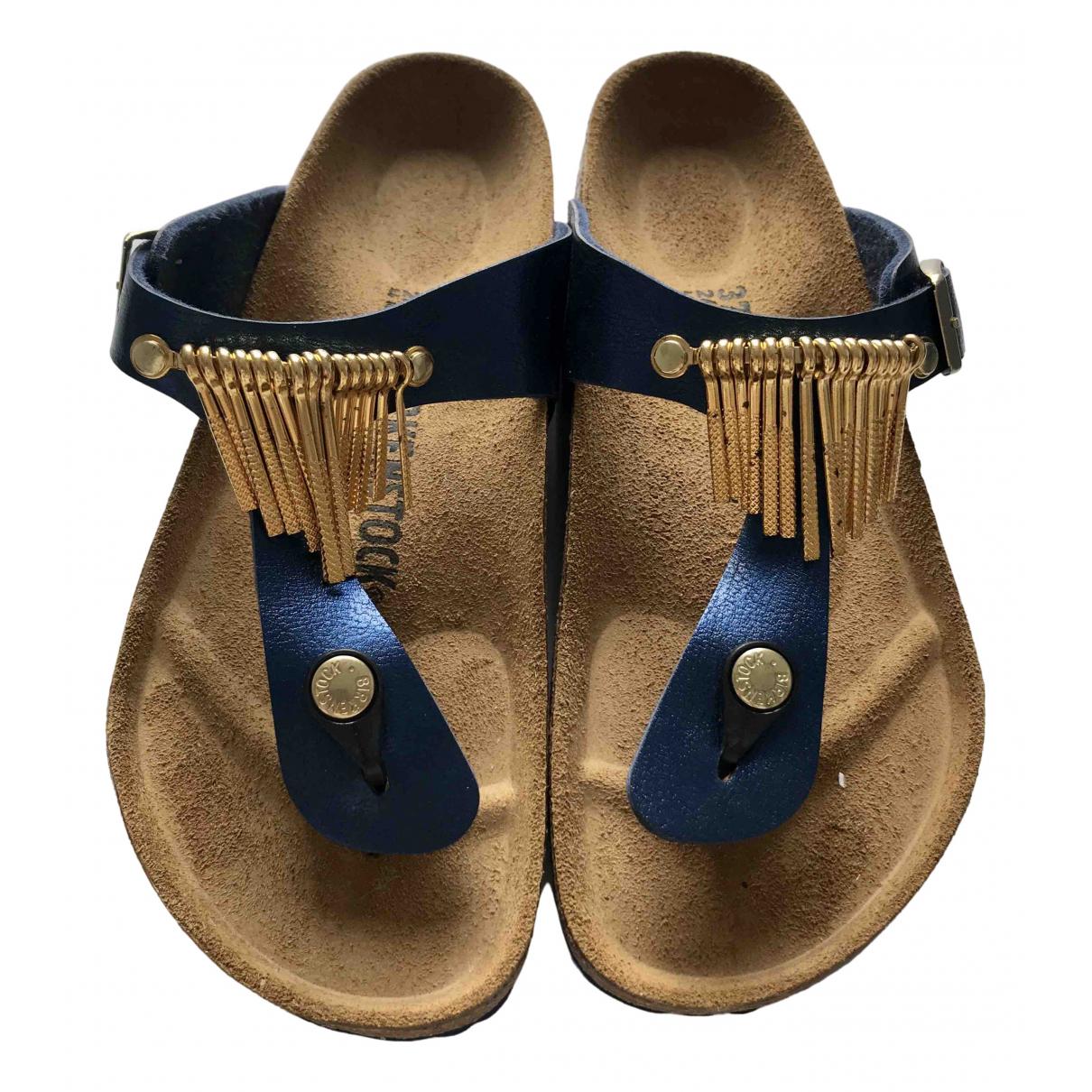 Birkenstock \N Sandalen in  Blau Lackleder