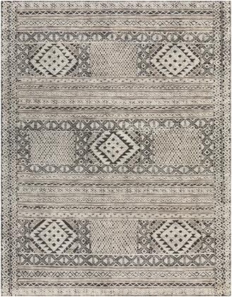 Tunus TUN-2304 9' x 12' Rectangle Traditional Rugs in Black  White