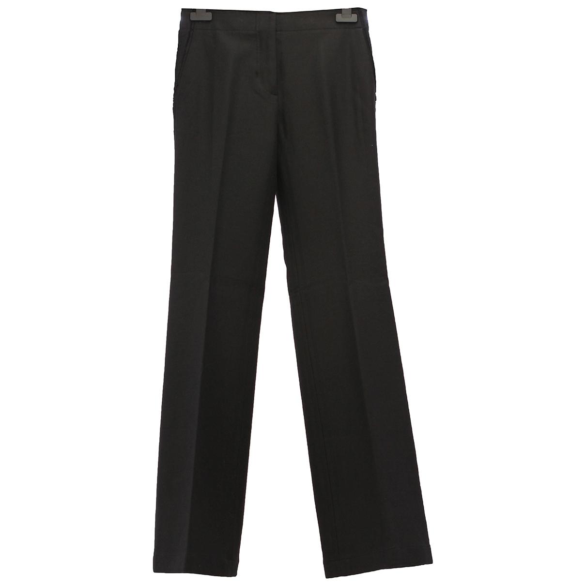 Helmut Lang \N Black Cotton Trousers for Women 0 0-5