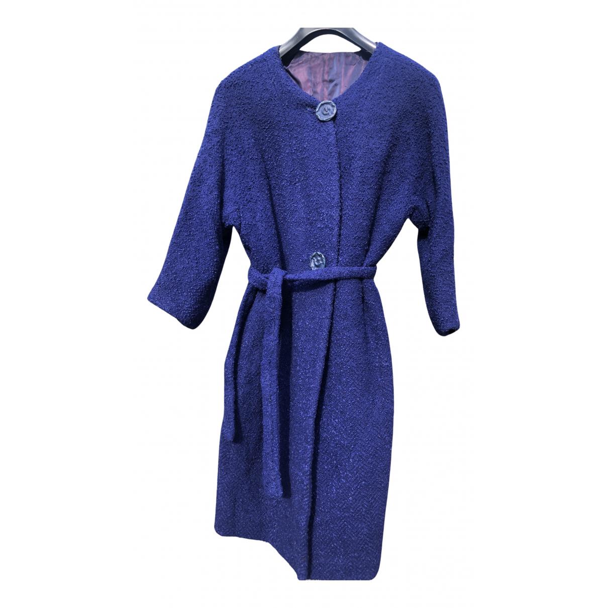 - Manteau   pour femme en laine - violet