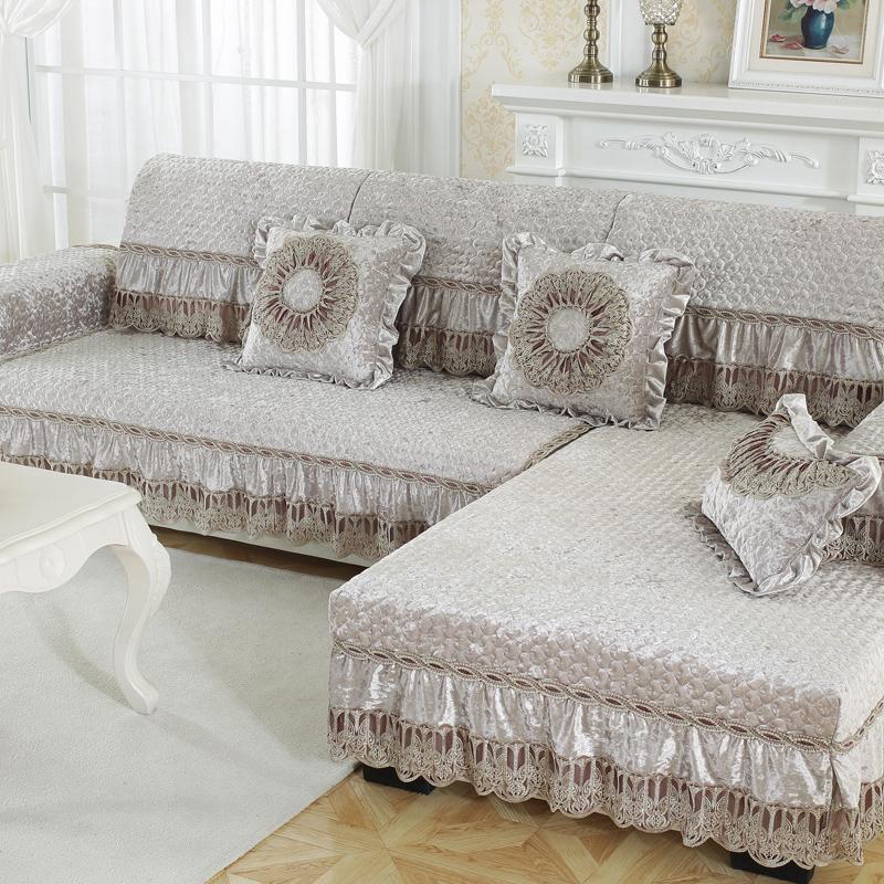 Thicken Anti-Slip European Style All Seasons Polyester Sofa Covers