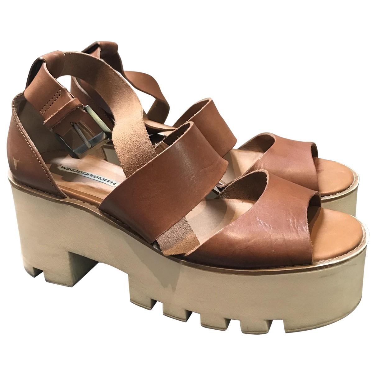 Windsor Smith - Sandales   pour femme en cuir - camel