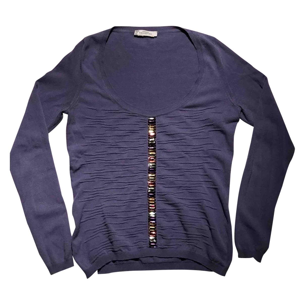 Versace - Pull   pour femme - violet