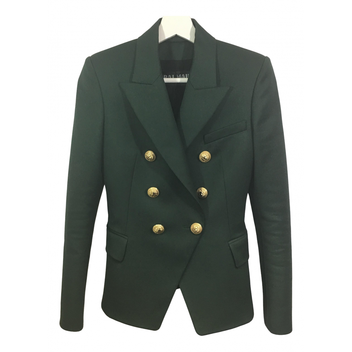 Balmain - Veste   pour femme en laine - vert